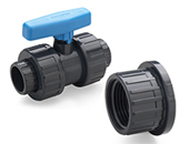[ 25 ]  PVC Ball Valves with thread cap BS (Inches)
